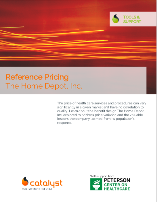 Reference Pricing: The Home Depot, Inc. - Catalyst for Payment Reform